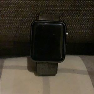 AppleWatchSeries2 42MM SpaceGray, Black Nylon Band